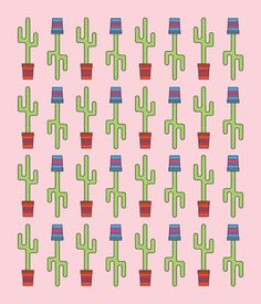BEN BIONDO MADE THIS STUFF #cactus #pattern #flat #nature #weird