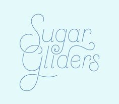Anne Lee Designs – www.anneleedesigns.com #type #gliders #lettering #sugar