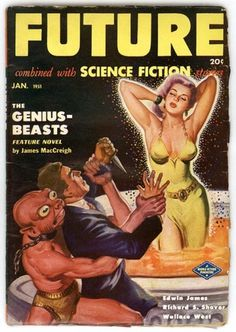 Future combined with Science Fiction stories 1 #book cover #science #1950 #fiction