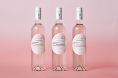 Le Rose Bleu Wine Packaging - Mindsparkle Mag Le Rose Blue represents a French premium rose wine generating awareness of the ocean's conservation. #logo #packaging #identity #branding #design #color #photography #graphic #design #gallery #blog #project #mindsparkle #mag #beautiful #portfolio #designer
