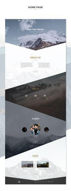 Original design for the website of the company which helps people to find a guide and group for hiking.