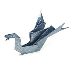 How to make a traditional origami dragon (http://www.origami-make.org/howto-origami-dragon.php) #origami, #dragon, #origamidragon, #origami