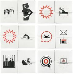Newspaper Pictograms : loft27design #newspaper #pictograms