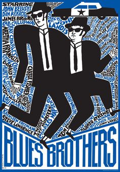 Blues Brothers, Polish Poster #illustration #movie #poster