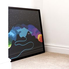 Onesidezero Blog #interior #bright #clouds #character #print #brett #onesidezero #wilkinson #giclee #colour #framed