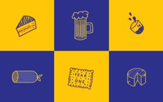 Hand Drawn Food Icons for Big Ass One