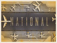 'The National' North American Tour Poster #type #national #poster #the