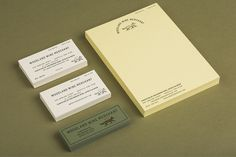 Business cards and stationery for Nashville based Woodland Wine Merchant by Perky Bros