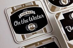 "Esquire Magazine ""The Best Bars in America"" Coasters on Behance #coasters #letterpress #typography"