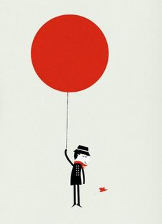 AisleOne - Graphic Design, Typography and Grid Systems #red #balloon #minimas #illustration #cosas