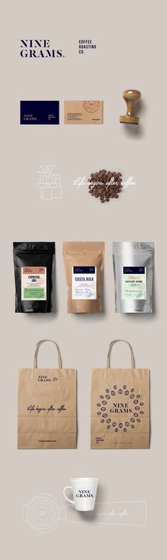 Nine Grams Coffee Roasting Co. on Behance