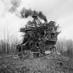 In Focus: Jim Kazanjian | Features | Archinect #house #smoke #woods #destroy #chimney #photography #architecture #barren