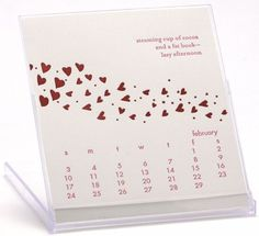 single card calendar letterpress - Google Search