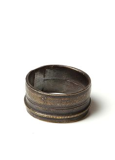 Robert Geller N9019 Ring In Antique Brass #geller #jewelry #ring #brass