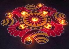 Diya Rangoli Rangoli Designs For Diwali with Diyas