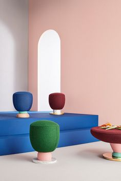 Colorful Toadstool Collection by Masquespacio