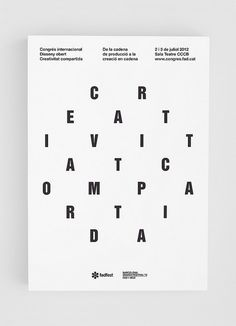 Shared Creativity Poster #festival #bisgrafic #2012 #fad #barcelona #poster #adg