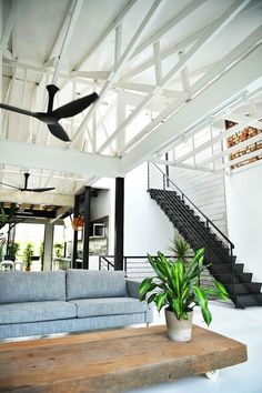 All Things Stylish #stair #fan #black