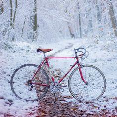 Jan Kloke - Cold Winter Bike Ride #white #ride #cold #road #vintage #bike #brooks #tour #winter
