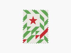 Algeria #stamp #graphic #maan #geometric #illustration #minimal #2014 #worldcup #brazil