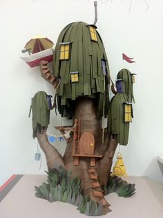 photo #diorama #paper #treehouse