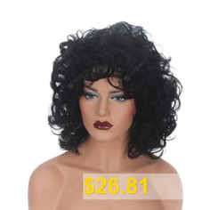 Women #Fashion #Synthetic #Wig #Curly #Natural #Hair #Accessory #- #BLACK