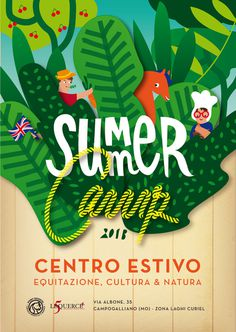 SUMMER Camp 2013 on Behance #colors #graphic #flyer #summer #characters