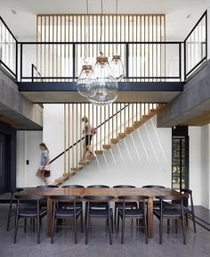 Natural and Aged Materials Integrated the Quarry House Decor