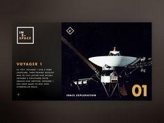 IN2–SPACE Hero UI // Voyager 1 by STUDIOJQ