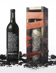 "Allstate Insurance's ""Mayhem Wine Bottle"" » Cannes Predictions 2012 Presented by Leo Burnett Worldwide #packaging"