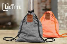 Enjoy the liberty of not always having to watch your belongings in public with LocTote, the go-to, theft-proof drawstring backpack. #product