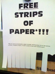 Flickr Photo Download: FREE strips of paper #humor