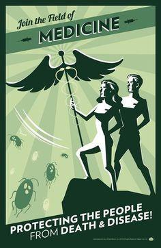 Retro Medicine Poster #medicine #poster #retro #doctor #nurse