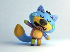 Max the fox #cute #character #3d #fox