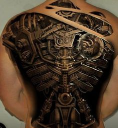 25 Awesome Steampunk tattoo designs #tattoo #steampunk #designs