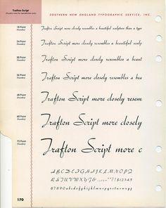 Trafton Script type specimen #type #specimen #typography