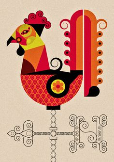 JonnyWanType #rooster #wan #chicken #poster #type #jonny