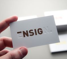 Ensign #design #logo #identity #creative #business card #deboss #brand #business #card #emboss #gsm #postiiv