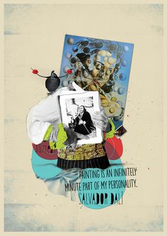 ART MOVEMENTS - COLLAGE #dali #van #gogh #salvador #illustration #paint #poster #art #collage