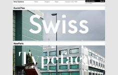 Inspiration N°131 : Swiss Typefaces #gallery #inspirations #the #website #minimal #webdesign #web