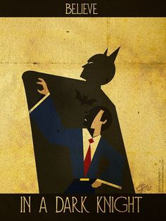 Illustrator Creates Superhero Inspirational Posters DesignTAXI.com #inspiration #books #batman #art #comics