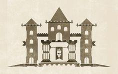 Vector Drawings - February and March on the Behance Network #old #vector #crown #past #texture #skull #castle #king