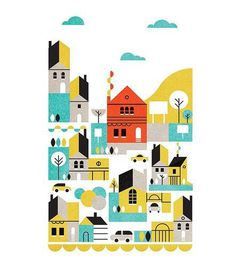 Edward McGowan, Smart Moves Parko Polo #map #illustration #minimal #buildings