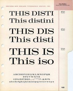 Craw Modern type specimen