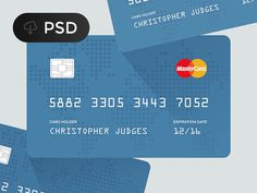 Flat Credit Card PSD