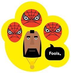 IPad | Magazine #vector #robert #spiderman #head #illustration #hanson
