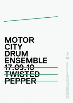 MOTOR CITY DRUM ENSEMBLE - James Cullen | Graphic Designer #graphic design #typography #poster