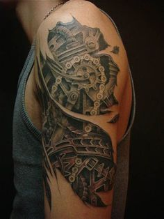 26 Amazing Steampunk Tattoos For Men and Women