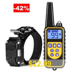 880 #800m #Waterproof #Rechargeable #Remote #Control #Dog #Electric #Training #Collar #- #BLACK