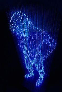 Light Sculptures3 #light #hologram #skulpture
